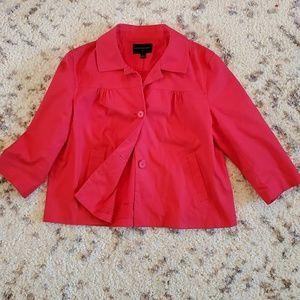BANANA REPUBLIC | hot pink capelet jacket